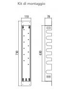 Kit di montaggio per miscelatore a 6 vie art. KIT00050