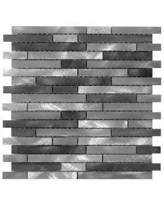 Mosaico ALUBRUSH MURETTO MAXI COLORATO Antracite art. 0579/ABSMM46