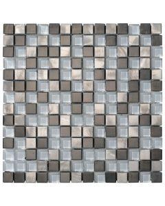 Mosaico METALGLASS Quadri Silver art. 0581/QS14