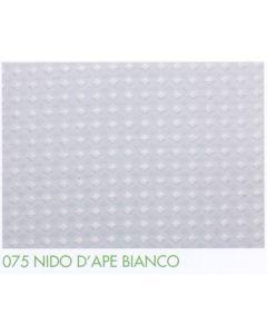Tenda doccia in tessuto di poliestere plastificato art. 075 NIDO D'APE BIANCO