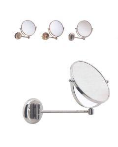 Specchio ingranditore 3x a parete con supporto snodato singolo art. 1037