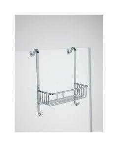 Pensile doccia rettangolare con 1 piano e 2 porta accappatoio art. 1072