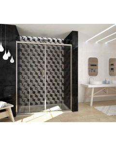 Porta doccia FUSION a 2 ante scorrevoli art. 241-TRA