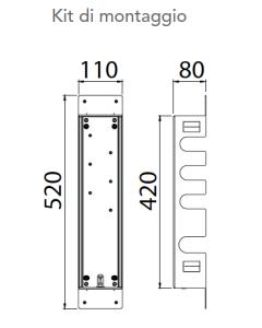 Kit di montaggio per miscelatore a 3 vie art. KIT00030