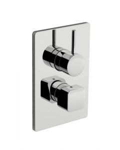 Parte esterna miscelatore doccia con deviatore a tre uscite DAILY CUBE 45 art. 45.5018.8