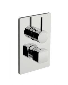 Parte esterna miscelatore doccia con deviatore a quattro uscite DAILY CUBE 45 art. 45.5019.8