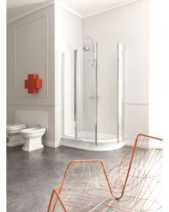 Piatto doccia semicircolare RETRÒ 80x120 SX art. 1333