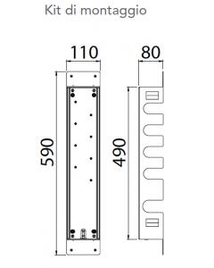 Kit di montaggio per miscelatore a 4 vie art. KIT00040