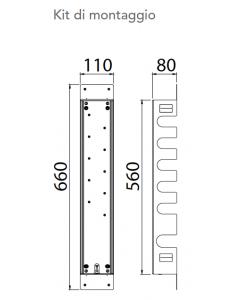 Kit di montaggio per miscelatore a 5 vie art. KIT00050