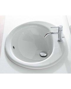 Lavabo incasso monoforo MAIORI 62x52 art. VA016.BI