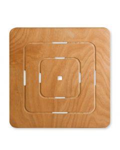 Pedana quadrata per doccia 60X60 art. 640