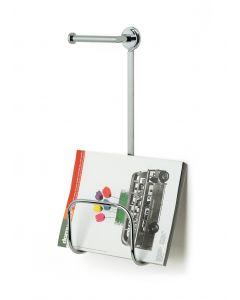 Porta riviste tondo universale con porta rotolo art. 771/11 OZIO