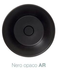 Piletta in ceramica scarico libero Bagno di Colore: NERO OPACO art. FI024AR