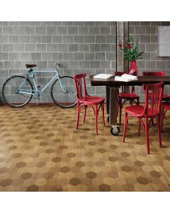 Parquet decorato art. esagona 1