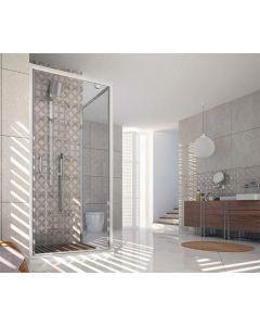 Porta doccia battente combinabile FUSION ad 1 anta art. 242-TRA-C
