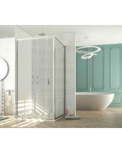 Porta doccia battente combinabile FUSION a 2 ante art. 239-TRA-C