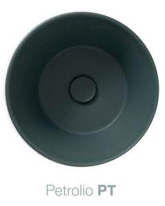 Piletta in ceramica scarico libero Bagno di Colore: PETROLIO art. FI024PT