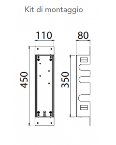 Kit di montaggio per miscelatore a 2 vie art. KIT00020