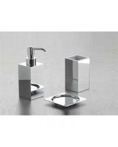 Dosatore sapone con pompetta in metallo in ottone Serie Urania art. 983