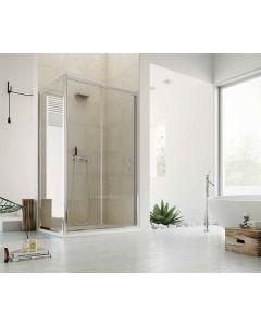 Porta doccia combinabile CONTEMPORARY ad 1 anta scorrevole art. 140-TRA-C