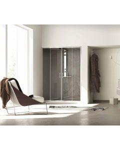 Porta doccia CONTEMPORARY a 2 ante scorrevoli art. 141-TRA
