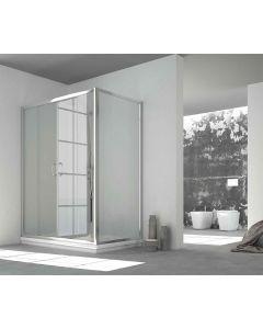 Porta doccia combinabile CONTEMPORARY a 2 ante scorrevoli art. 141-TRA-C