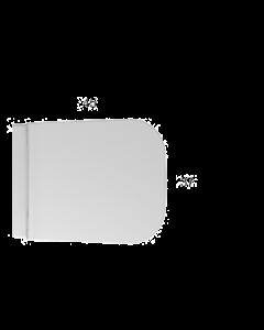 Coprivaso rimovibile con chiusura rallentata Bianco lucido art. ST024BI