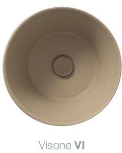 Piletta in ceramica scarico libero Bagno di Colore: VISONE art. FI024VI