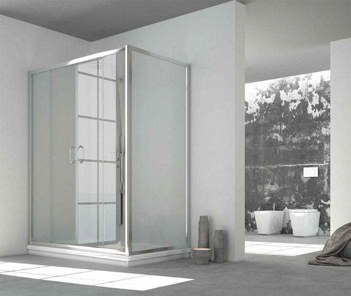 Porta Scorrevole A 2 Ante.Porta Doccia Combinabile Contemporary A 2 Ante Scorrevoli Art 141
